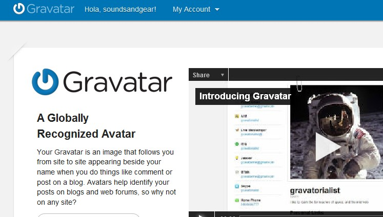 How to setup your avatar on the site
