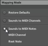 group midi batch setup channel