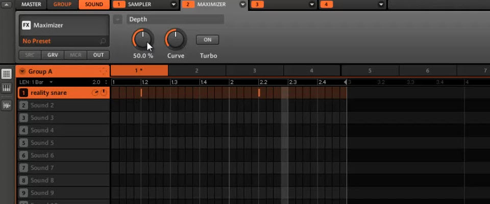 Maschine FX: Understanding the maximizer module