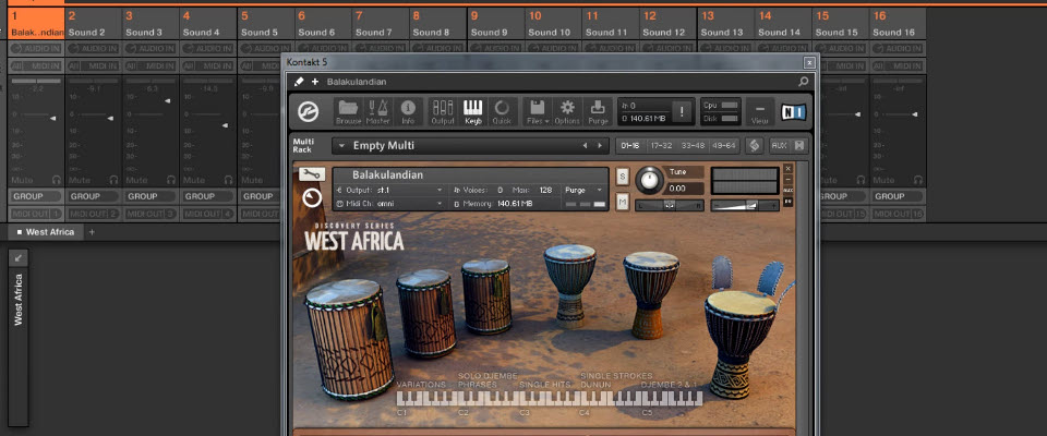 Maschine 2.0: Route multiple channels of West Africa to Maschine's mixer