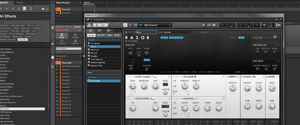 How to setup Razor as a vocoder in Maschine 2