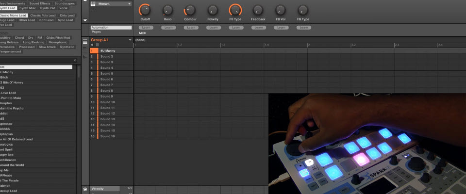 How to sync and record MIDI from Arturia BeatStep into Maschine