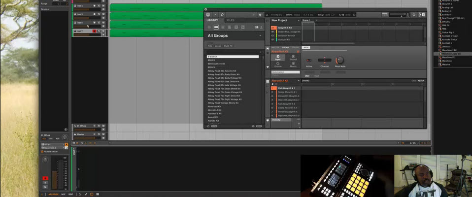 Maschine 2 in Bitwig Studio Multi Channel Sequencing and Scene Changes
