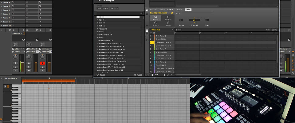 Maschine 2.2 in Bitwig Studio Recording Live MIDI and Routing Multiple Audio Channels
