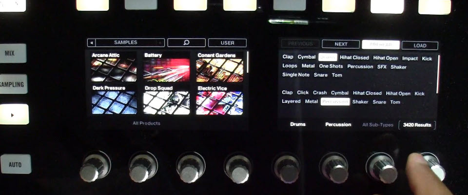 Maschine 2.2 Touch Sensitive Knob Menus and Browsing on Maschine Studio