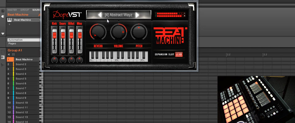 Routing Multiple Channels of Dope VST Beat Machine to Maschine's Mixer