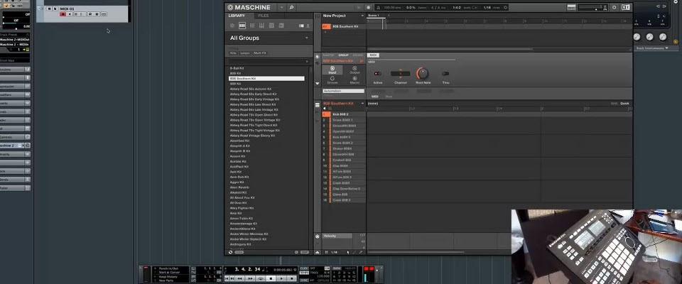 Maschine 2 Recording MIDI Directly into Cubase 8