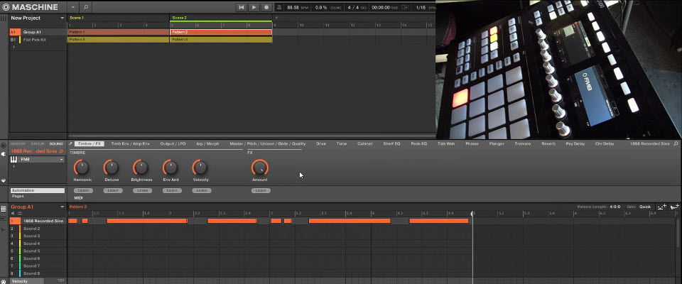 Maschine 2 Recording Linear Automation Across Multiple Scenes