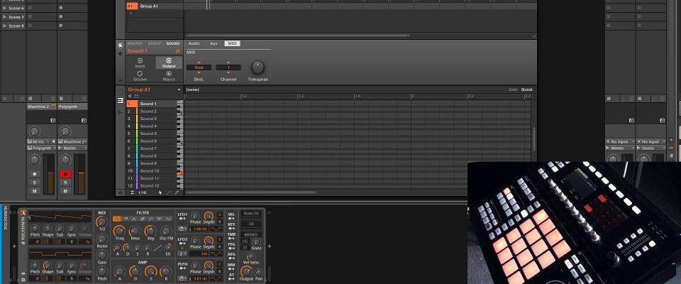 Using Maschine 2.3 Chord Mode in Bitwig Studio