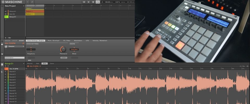 Maschine 2.4.5 Update: Live Pad Slicing, Split Slice, Live Edit, & Delete All Slices