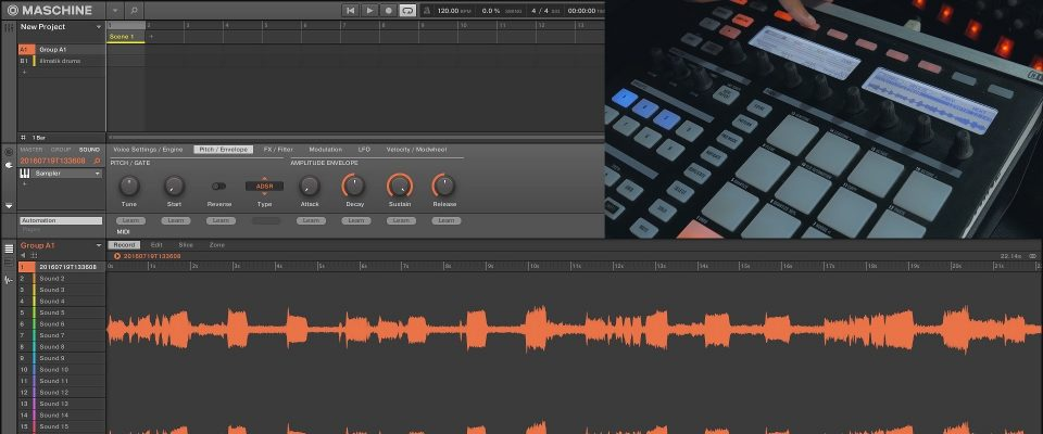 Maschine MK1 Sampling Workflow with 2.4.6 Software