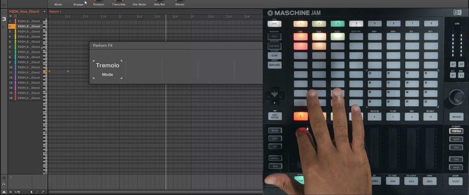 Maschine Jam Using the Performance FX