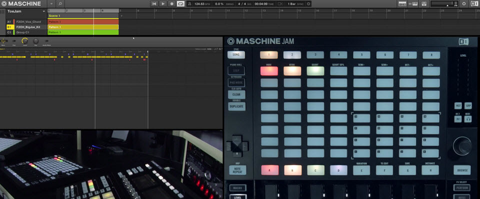 MASCHINE Jam – Pattern Creation Workflow, Mute Automation, & Parameter Morphing