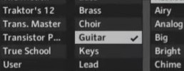 Save plugin presets or custom instruments and tag them automatically