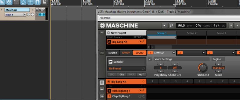 Sequencing multiple Maschine MIDI tracks in Reaper - Maschine Tutorials