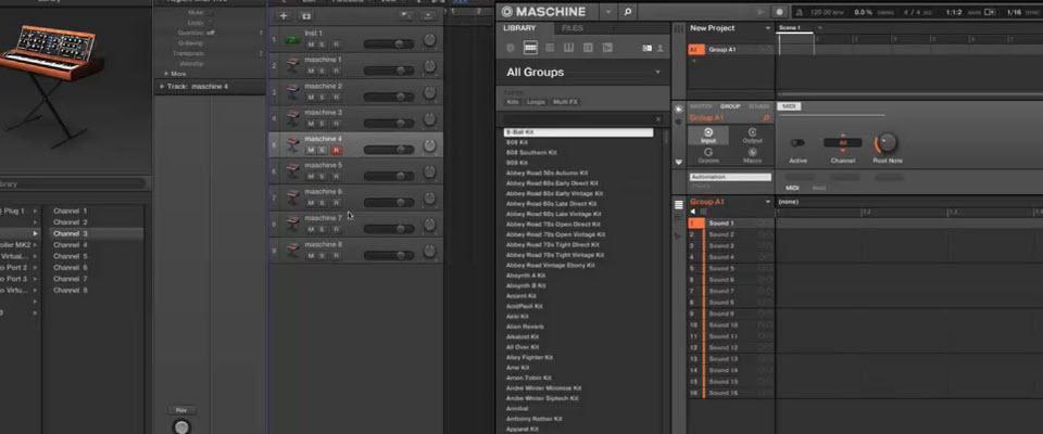 Midi Controller Logic Pro X Setup : maschine 2 0 midi sequencing in logic pro x with maschine studio maschine tutorials ~ Vivirlamusica.com Haus und Dekorationen