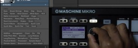 Maschine 2.0 browsing instruments, samples, effects, and plugins with Maschine Mikro