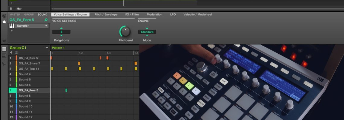 Maschine 2.6.5 Arranger and Ideas View On The Hardware Controller