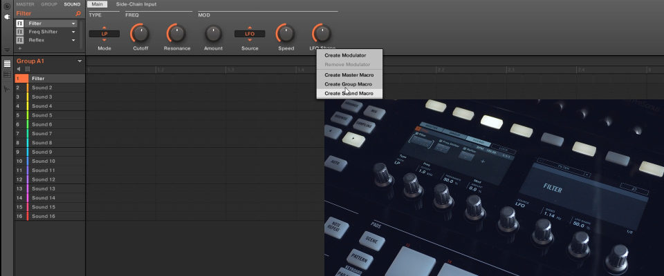Maschine 2.6.6: Right-Click To Assign Sound, Group, & Master Macros