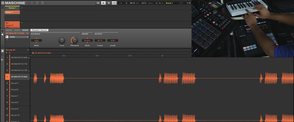 "Maschine 2.7.4 – Audio Loop Recording Workflow Using ""Sound"" Target Mode"