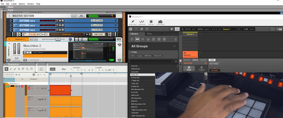 Using Maschine as a Sound Module in Reason 11