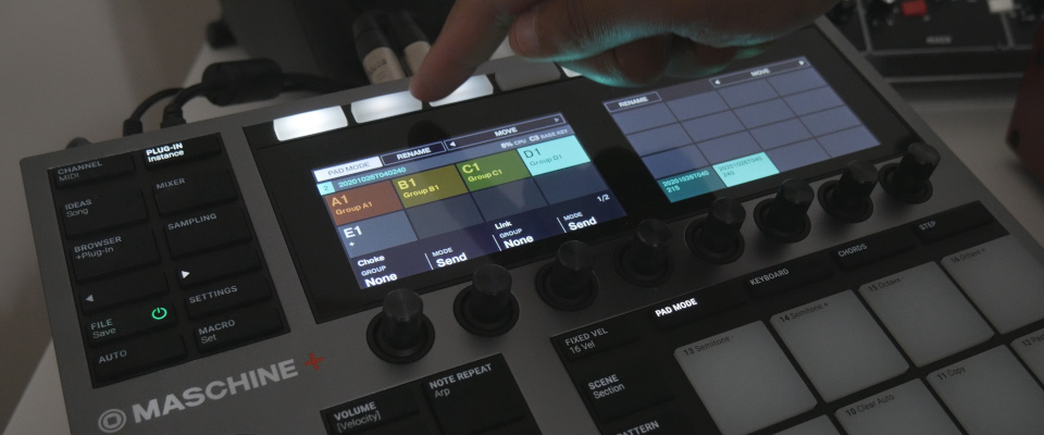 Maschine Plus – Rename Groups and Pads in Standalone Mode